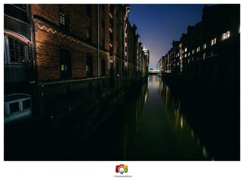 Fotokurs Fotokurse Fotoworkshop Hamburg Speicherstadt Nachtfotografie