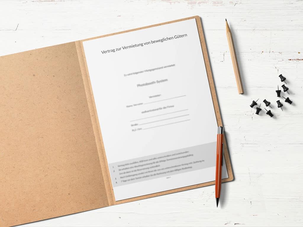 Photobooth Vertrag Fotobox Mietvertrag Agb übergabeprotokoll