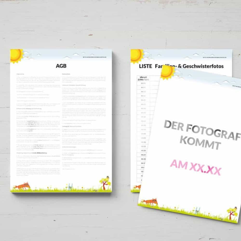 Bundle - Ebook & Vorlagen für Fotografen (Schule und Kindergarten ...