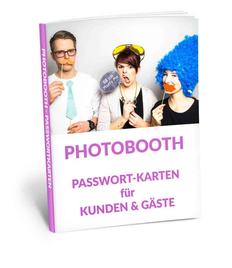 Photobooth Passwortkarten Visitenkarten Für Kunden Gäste Digital