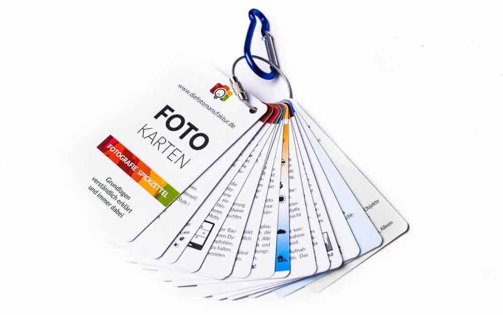 Spickzettel für Fotografen Cheatcards Fotografie Grundlagen 1