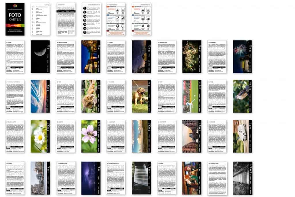 Spickzettel Kameraeinstellungen Fotorezepte Einstellungen Kamera Fotocheatcard