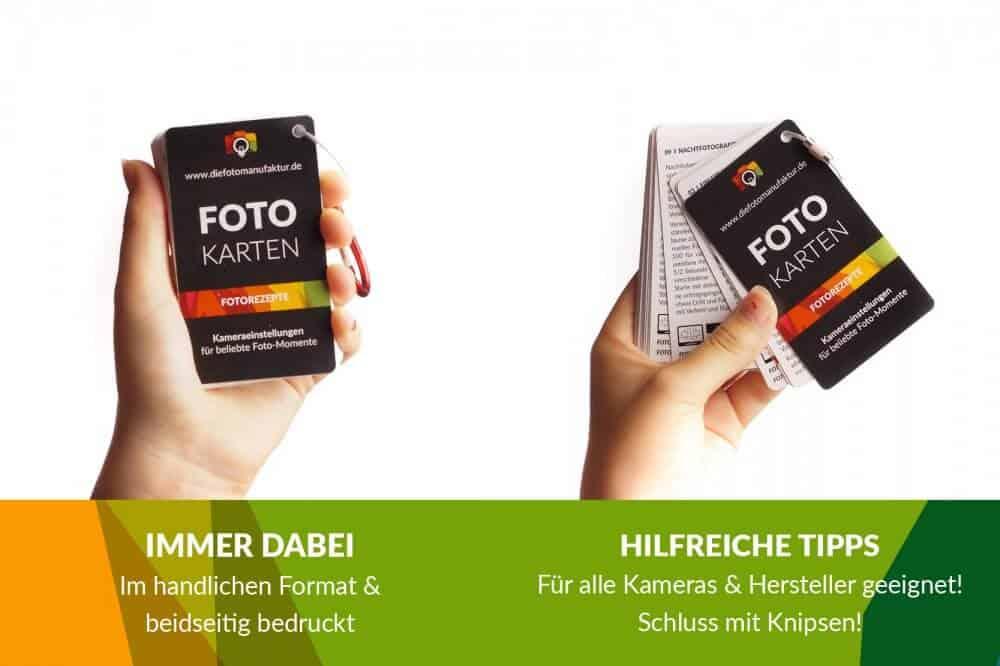 Kameraeinstellungen Fotorezepte Spickzettel