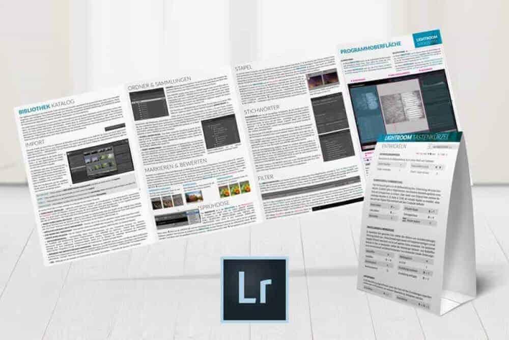 Lightroom Spickzettel Merkblatt Faltblatt