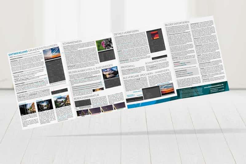 Cheatsheet Lightroom Spickzettel
